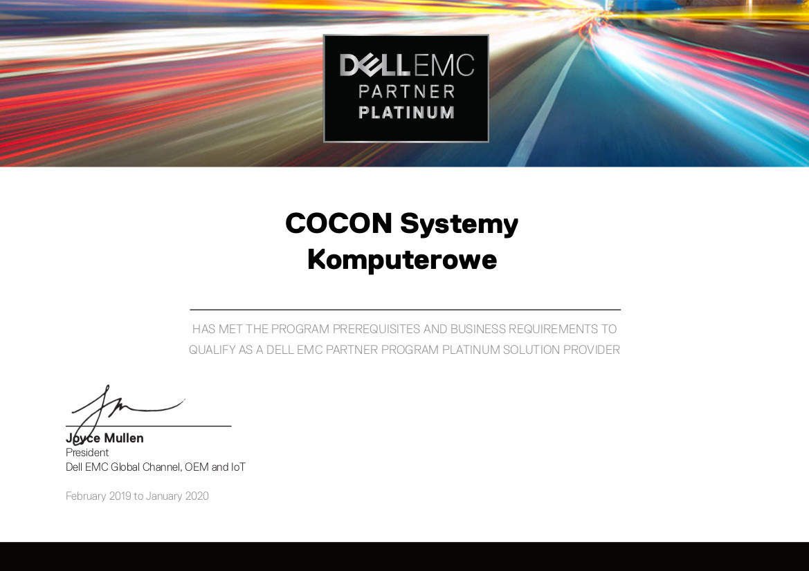 Dell EMC Partner Platinum - dellowo.pl